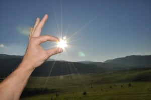 finger ok on sunlight